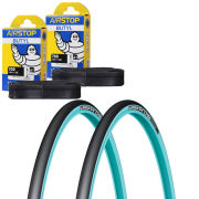 Michelin Pro 4 Race Service Course Clincher Road TyreTwin Pack with 2 Free Tubes - Blue 700c x 23mm