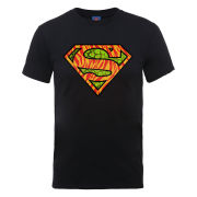 DC Comics Men's T-Shirt - Superman Wild Logo - Black