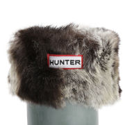Hunter Women's Short Furry Cuffy Welly Socks - Chinchilla Grey