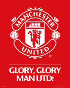 Manchester United Club Crest - Mini Poster - 40 x 50cm