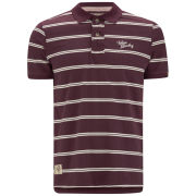 Tokyo Laundry Men's Howse Peak Striped Polo Shirt - Oxblood