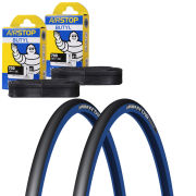 Michelin Pro 4 Race Service Course Clincher Road Tyre Twin Pack with 2 Free Tubes - Blue Dark 700c x 23mm