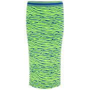 House of Holland Women's Knitted Tube Skirt - Green Zebra