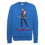 Marvel Avengers Assemble Hawkeye Locked on Target Men's Sweatshirt - Royal Blue