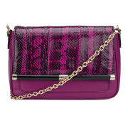 Diane von Furstenberg Women's Martini Leather Cross Body Bag - Snake Print/Azalea Pink