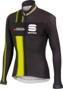 Sportful Gruppetto Men's Partial WS Jacket - Anthracite/Yellow Fluo