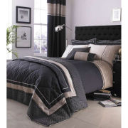 Catherine Lansfield Luxury Geo Pillowcases Pair - Black