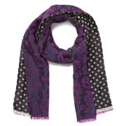 Paul Smith Accessories Women's Floyd Floral Polka Scarf - Black
