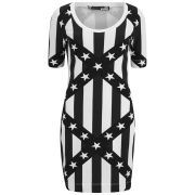 Love Moschino Women's Printed T-Shirt Dress - Black/White