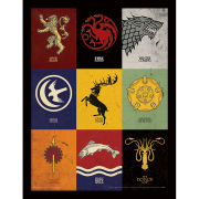 Game of Thrones Sigils - Framed 30x40cm Print