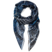 Jane Carr The Bullet Square Silk Chiffon Scarf - Night