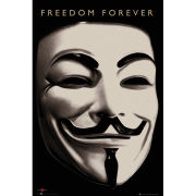 V For Vendetta Mask - Maxi Poster - 61 x 91.5cm