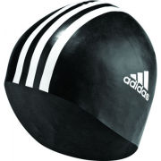 adidas Men's Silicone Swimming Hat - Black/White