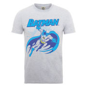 DC Comics Men's T-Shirt - Batman Leap - Heather Grey