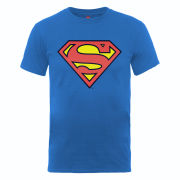 DC Comics Men's T-Shirt Superman Shield - Royal Blue