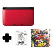 Nintendo 3DS XL Red/Black Super Smash Bros. For Nintendo 3DS Pack