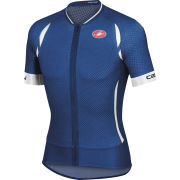 Castelli Climber's 2.0 Full Zip Jersey - Surf Blue/White