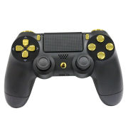 Official PlayStation DualShock 4 Custom Controller - Gold on Matte Black