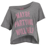 Local Celebrity Women's Maybe Partying Tee - Heather