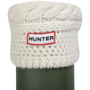 Hunter Women's Moss Cable Welly Socks - Cream