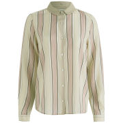 Maison Scotch Women's Silk Stripe Shirt - Cream/Pink
