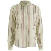Maison Scotch Women's Silk Stripe Shirt - Cream/Pink