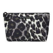 Diane von Furstenberg Women's Voyage Small Nylon Cosmetic Bag - Leopard