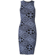 Club L Women's Diamond Printed Midi Tube Dress - Blue