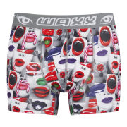 WAXX Men's Kisses Boxers - White/Red