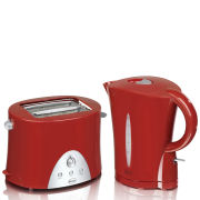 Swan Kettle and Toaster Twin Pack - Red