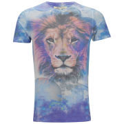 Brave Soul Men's Scar Lion T-Shirt - White