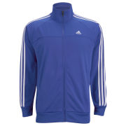 adidas Men's Essential 3 Stripe Track Top - Blue/White