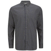 French Connection Men's Gallery Diamonds Shirt - Black Iris