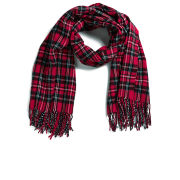 ONLY Women's Checked Rebel Scarf - Red