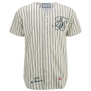 Sik Silk Men's Baseball Shirt - Classic Cream