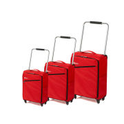 Z Frame Super Lightweight 3 Piece Suitcase Set - Red