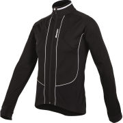 Santini Octa Water Resistant and Windproof Fuga Jacket - Black/White