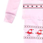Text Santa Girls' Holly Christmas Pyjamas - Pink