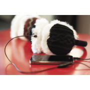 Tryble Earmuff Headphones - Cable Knit Black