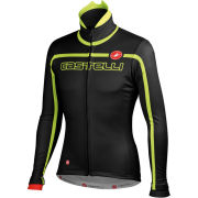 Castelli Velocissimo Team Jacket - Black/Fluorescent Yellow