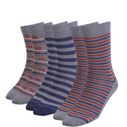 Green Treat Men's 3 Pack Sock Gift Set - Navy
