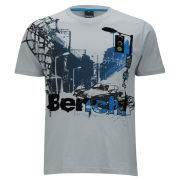 Bench Men's City Car T-Shirt - High Rise Grey