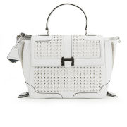 Rebecca Minkoff Elle Studded Leather Wing Tote Bag - White