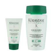 Kerastase Resistance Bain De Force 250ml and Resistance Ciment Thermique 125ml Bundle