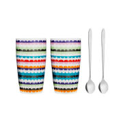 Sagaform Pop Latte Mug with Spoon (2 Pack)