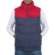 Animal Men's Colourblock Gilet - Red/Navy