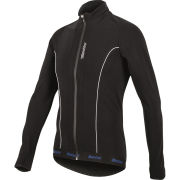 Santini H21 Acquazero Water Resistant Long Sleeve Jersey - Black
