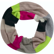 Codello Women's Winter Wonderland Knitted Loop in Patchwork Scarf - Multi