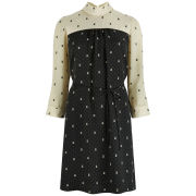 Orla Kiely Women's Ditsy Cat Print Tunic Dress - Chalk
