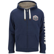 Animal Men's Farthings Zip Through Hoody - Indigo